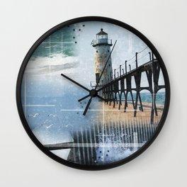 Manistee Lighthouse MI Wall Clock