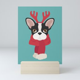 French Bulldog Christmas Dog Mini Art Print