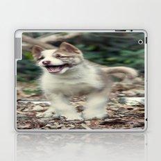 Happy puppy Laptop & iPad Skin