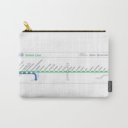 Twin Cities METRO Green Line Map Carry-All Pouch
