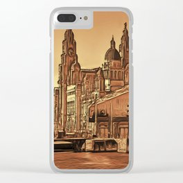 World famous Three Graces (Digital painting) Clear iPhone Case