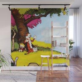 Calvin And Hobbes Holiday Wall Mural