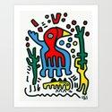 Birds in the desert Graffiti Street Art Kids by emmanuelsignorino