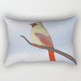 female northern cardinal Rectangular Pillow