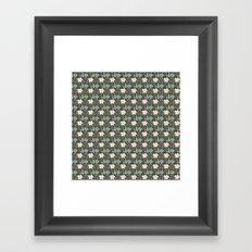 Fun Floral Pattern Framed Art Print