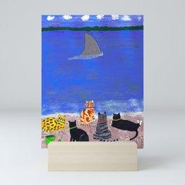 Cats on the Beach Mini Art Print
