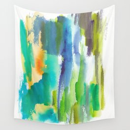 180812 Abstract Watercolour Expressionism 4   Colorful Abstract   Modern Watercolor Art Wall Tapestry
