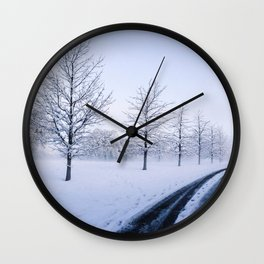 Snow snow snow. Wall Clock