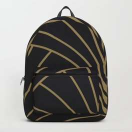 Diamond Series Floral Burst Gold on Charcoal Backpack