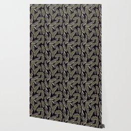 Jungle At Night Tropical Print Wallpaper