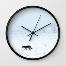 Coyote in Gros Ventre Wall Clock