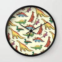 dinosaurs Wall Clocks featuring DINOSAURS! by Sonny Ross
