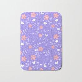 Cute bird and flower pattern Bath Mat