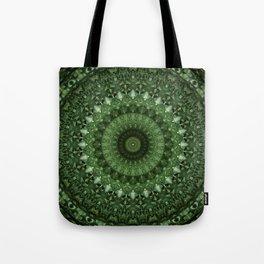 Mandala in olive green tones Tote Bag
