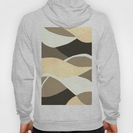 Beige Brown and Taupe Abstract Hoody