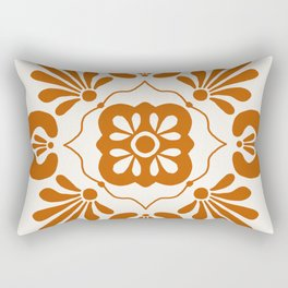 Terracotta Talavera Rectangular Pillow