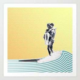 Surf Date Art Print