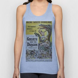 Vintage Movie Posters, Goliath and the Dragon Unisex Tank Top