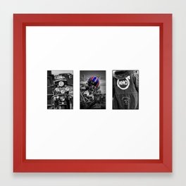 Mod (triptych) Framed Art Print