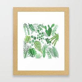 Houseplant Collage Framed Art Print