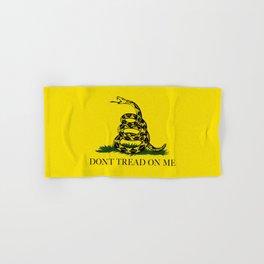 Gadsden Don't Tread On Me Flag - Authentic version Hand & Bath Towel