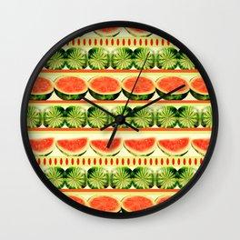 Watermelon Shindig Wall Clock