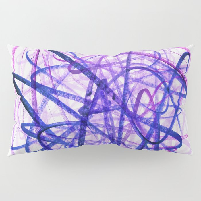Violet Chaos Expressive Lines Abstract Pillow Sham
