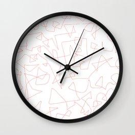 Where now? (Salmon) Wall Clock