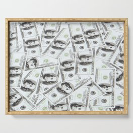 money pattern Serving Tray