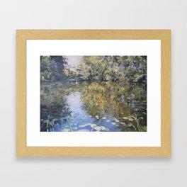 Brauensdorf river scene Framed Art Print