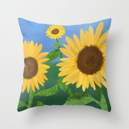 Sunflower Day Throw Pillow
