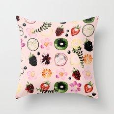 Fruit festival pattern Throw Pillow