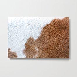 Cow Hide Print Pattern Metal Print