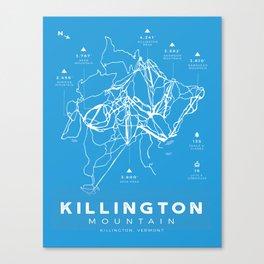 Killington Mountain, Ski Trail Map Canvas Print