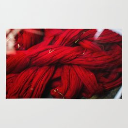 Red Dyeing Rug
