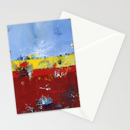 Deerfield Red Yellow Blue Abstract Art Primary Colors Stationery Cards