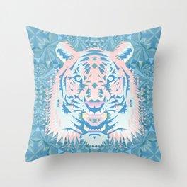 Pastel Quartz Tiger Throw Pillow