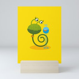 Monster Friends – Illustration for children Mini Art Print