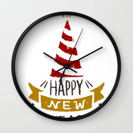 Happy New Years 2017 T-Shirt Wall Clock