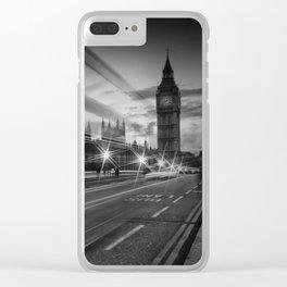 LONDON Westminster Bridge Traffic Clear iPhone Case