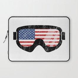American Goggles - Distressed Black   Goggle Designs   DopeyArt Laptop Sleeve