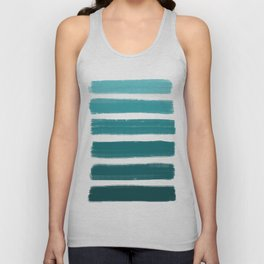 Teal Ombre Unisex Tank Top