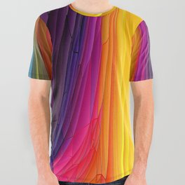 Melting Pot of Colors Abstract All Over Graphic Tee