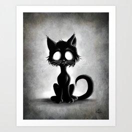 Creepy Cat Art Print