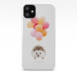 Hedgehog Balloons iPhone Case