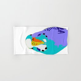 Parakeet Budgie Bird Colorized Hand & Bath Towel
