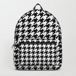 Houndstooth pattern - Black and White - 千鳥 Backpack