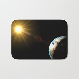 sun, earth and the moon Bath Mat