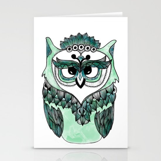 Mr. Owl Stationery Cards