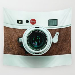Retro vintage leather camera Wall Tapestry
